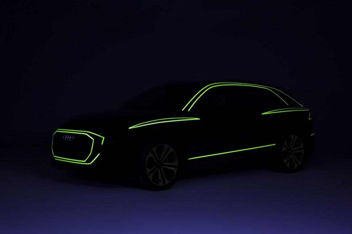 Audi Q8 Kühlergrill Schulterlinie Design Darkroom