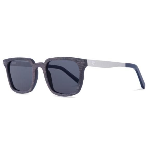 Kerbholz Theodor Grenadill Holz Sonnenbrille blau grau