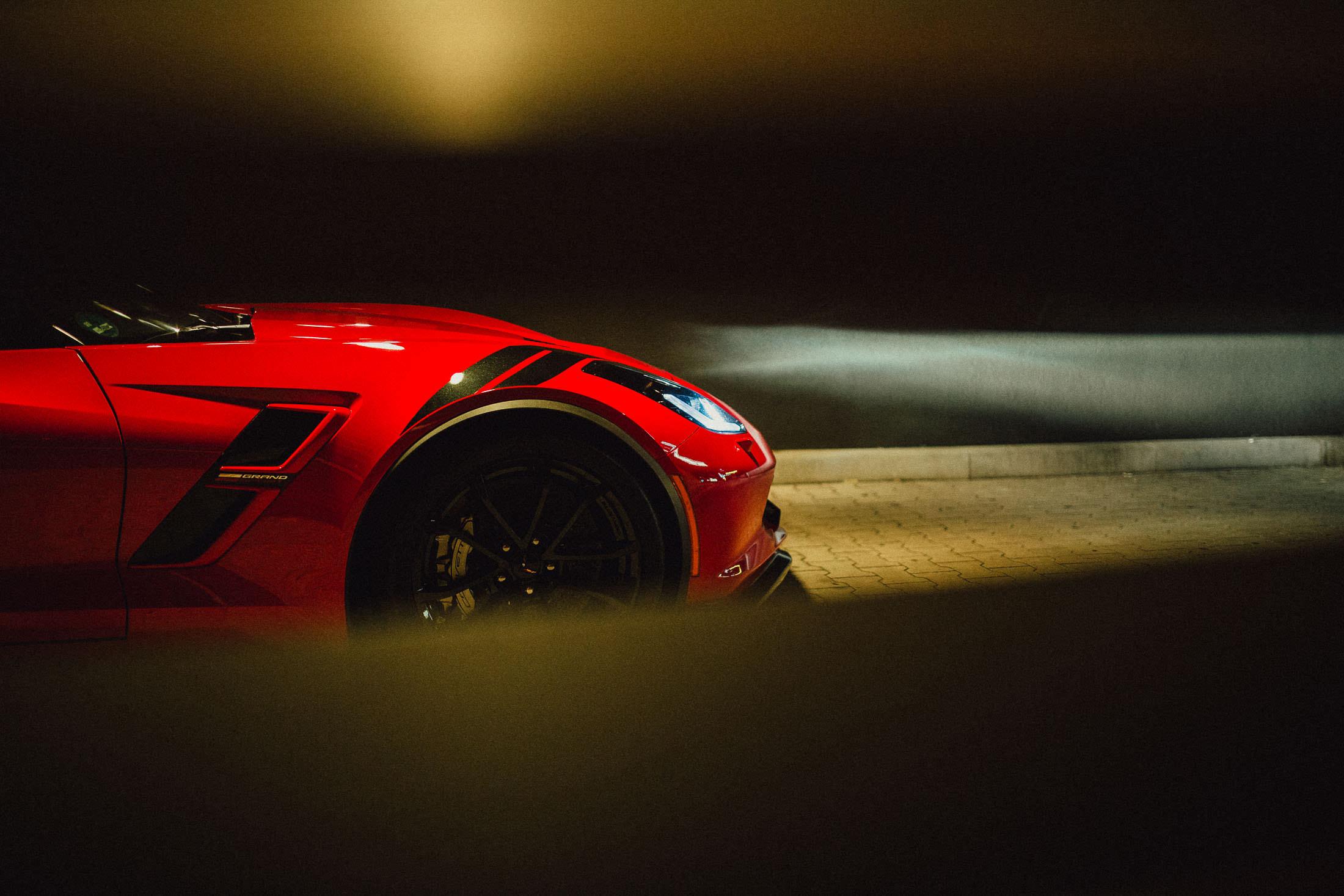 Corvette Grand Sport C7 Luftauslässe Front Felge Hash Package