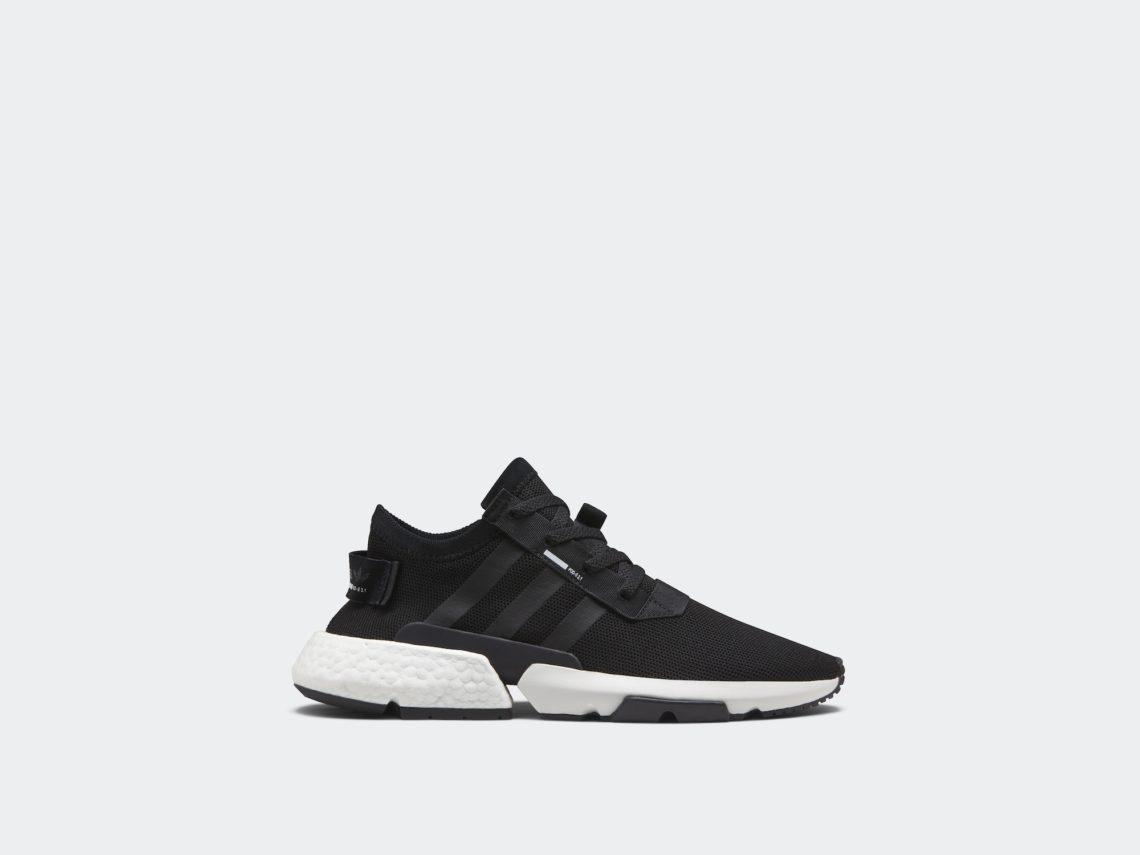 adidas pod-s3.1 seitenansicht schuh schwarz weiß