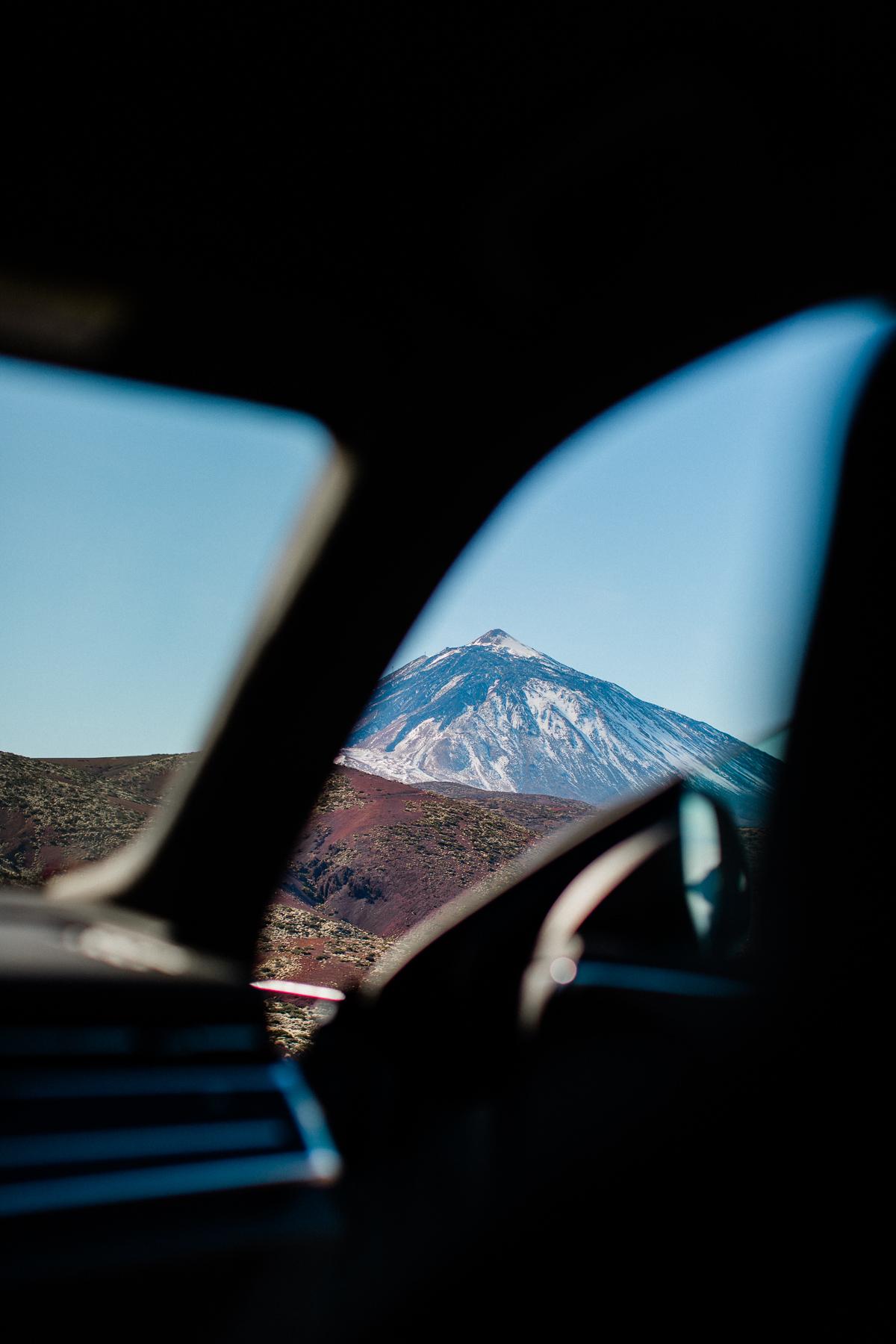 blick auf den berg teide im teide nationalpark teneriffa